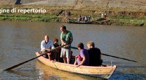 Passo di barca a Uliveto Terme in occasione della Fiera di San Casciano