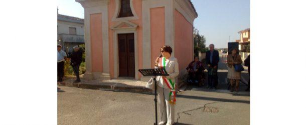 Inaugurazione del restauro della Cappella di Santo Stefano in Sardina
