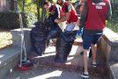 Pontedera, intervento di pulizia urbana di CasaPound alla scalinata della Madonnina