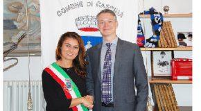 Incontro in municipio a Cascina tra il sindaco Ceccardi e il console americano di Firenze Wohlauer