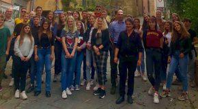 Un gruppo di studenti olandesi in visita a Vicopisano grazie all'Istituto Fermi di Pontedera