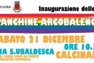 INAUGURAZIONE PANCHINE ARCOBALENO – Sabato 21 Dicembre (10.30) – Calcinaia, Via S. Ubaldesca