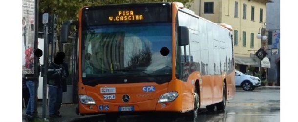 A Cascina autobus deviati su corso Matteotti