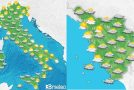 Bassa pressione sul Centrosud, piogge e temporali in serata