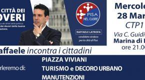 Raffaele Latrofa incontra i cittadini a Marina di Pisa