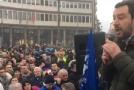 """Matteo Salvini a Pisa, alta tensione, ma le previste contestazioni dei soliti """"professionisti itineranti"""" sono state più sommesse del solito…"""