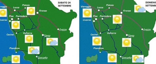 WEEK – END SOLEGGIATO, TEMPERATURE GRADEVOLI