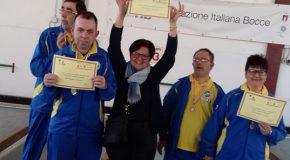 Medaglia d'oro paralimpica a Pontedera per gli atleti di bocce dell'A.S.Ha. Pisa onlus