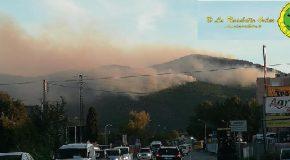 Aggiornamento sulla situazione dell'incendio sul monte Serra