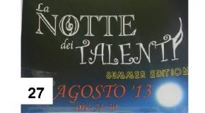 """AL TEATRO COMUNALE DI SANTA MARIA A MONTE LA FINALISSIMA DE """"LA NOTTE DEI TALENTI SUMMER EDITION 2013""""."""