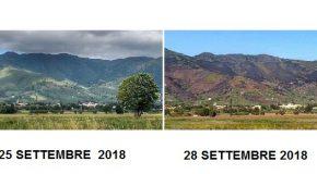 Incendio Monte Pisano, aggiornamento del 28 settembre con le parole del sindaco di Vicopisano