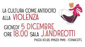 Violenza di genere, la cultura come antidoto – Martedì 5 dicembre l'incontro per famiglie e associazioni in sala James Andreotti