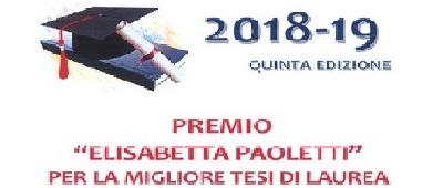 """Termini di partecipazione al premio """"ELISABETTA PAOLETTI"""" in scadenza"""