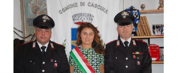 Encomio del sindaco Ceccardi ai carabinieri Bellomo e Di Iuorio della stazione di Navacchio