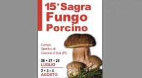 CASCINE DI BUTI, SAGRA DEL PORCINO (26-27-28 LUGLIO E 2-3-4 AGOSTO).
