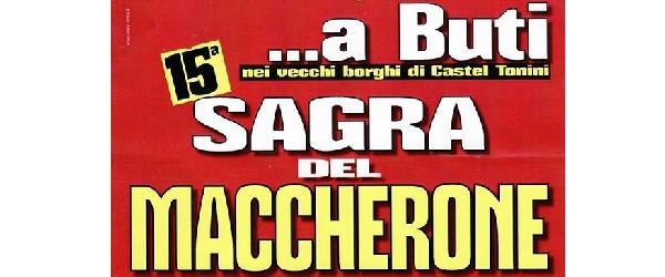 A BUTI SAGRA DEL MACCHERONE: APPUNTAMENTO PER QUESTO WEEK-END ED IL PROSSIMO (26/27/28 LUGLIO).
