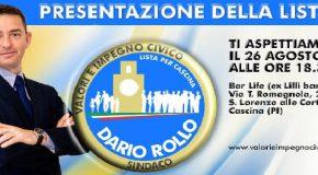 Presentazione Candidati al Consiglio Comunale di Cascina