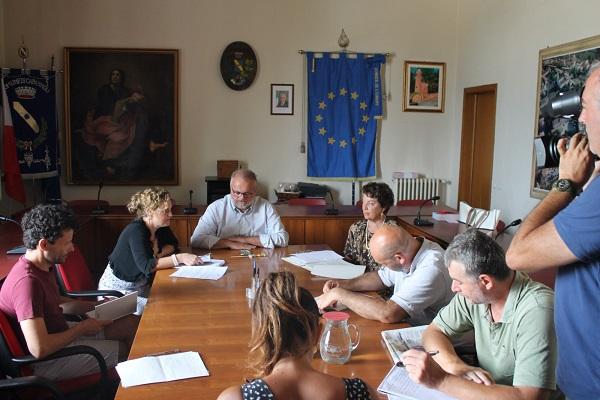 La conferenza stampa di questa mattina, tenuta nel palazzo comunale di Capannoli