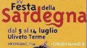"""A ULIVETO TERME (PI) LA XV EDIZIONE DELLA """"FESTA DELLA SARDEGNA"""". 5-14 LUGLIO ( CON PAUSA LUNEDI' 8)"""