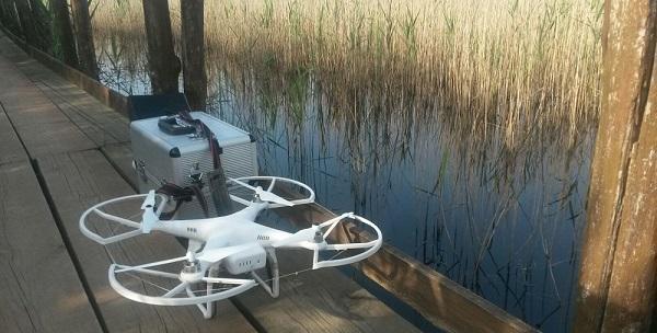Il drone usato per cogliere degli scorci di paesaggio indimenticabili e suggestivi