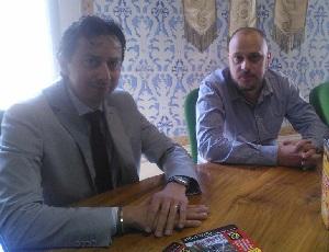 Il sindaco di Buti Alessio Lari ed il capocontrada di San Rocco Eddy Leone