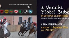 """A BUTI LA SETTIMANA PRE-PALIO INIZIA CON LA """"CENA ITINERANTE"""". SABATO SERA IN GIRO PER IL PAESE GUSTANDO I PIATTI DELLA TRADIZIONE…"""